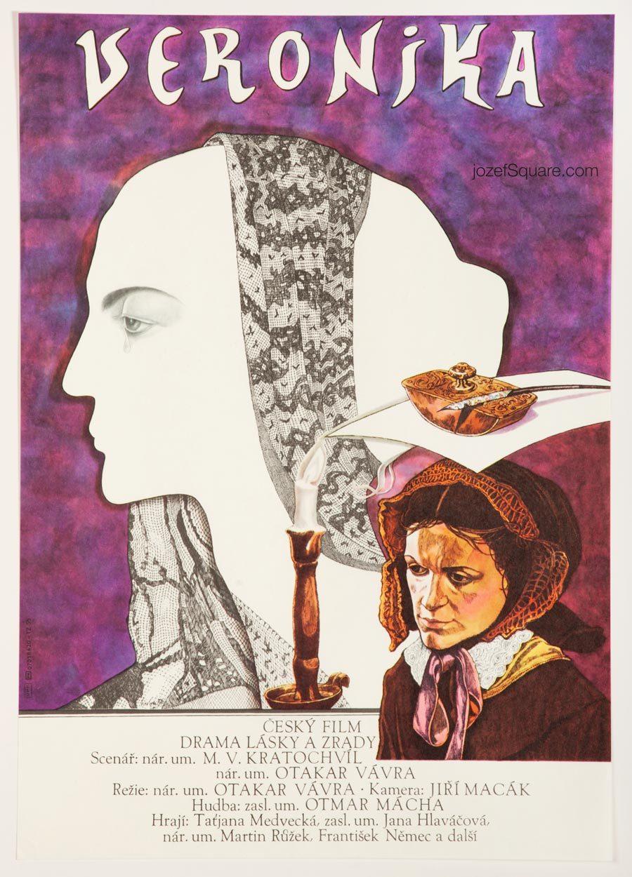 Movie Poster, Veronika, 80s Cinema Art