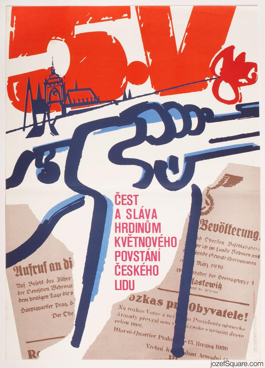 Propaganda Poster, Fifth of May, 80s Graphic Art