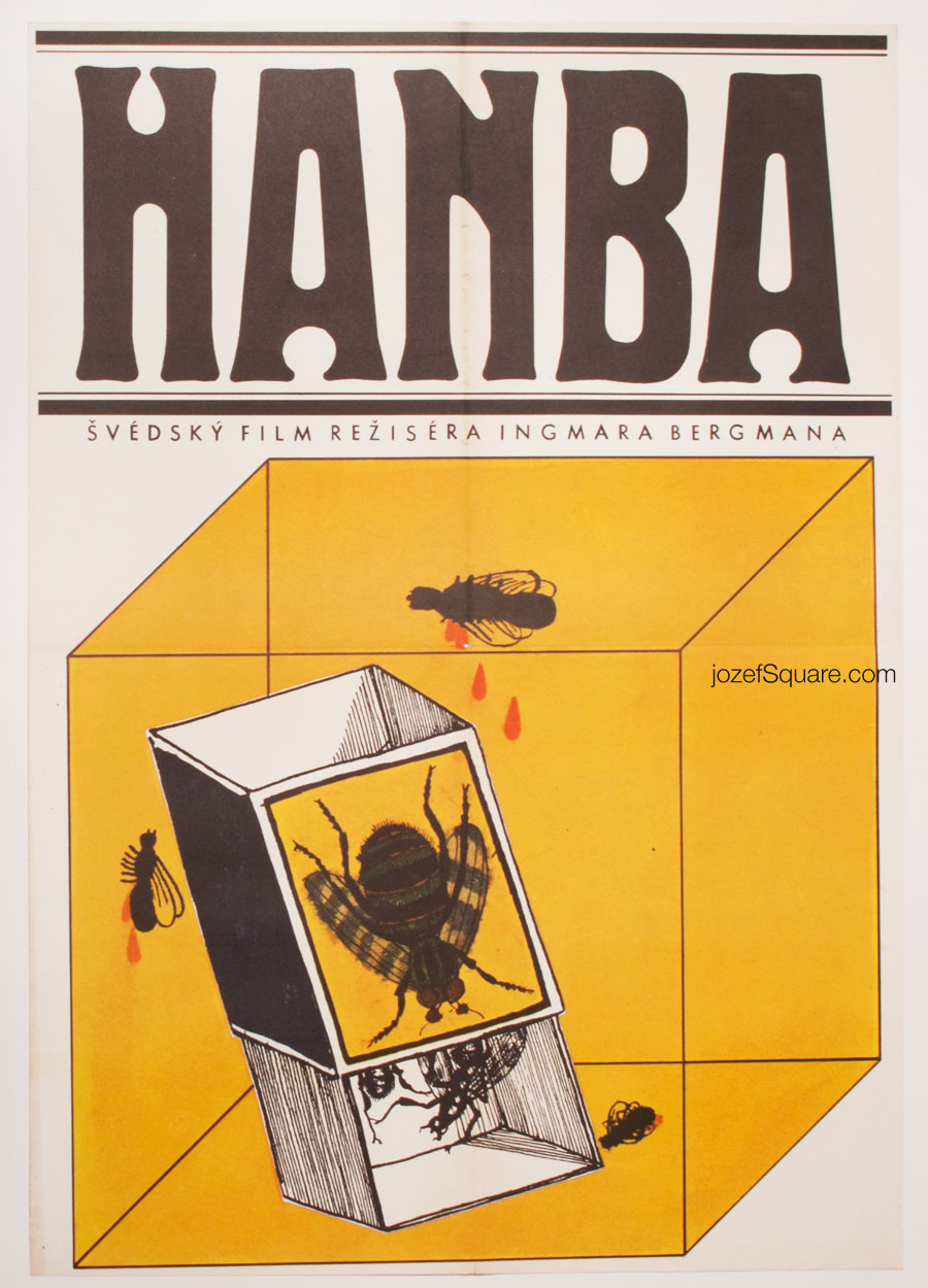 60s Movie Poster, Shame, Ingmar Bergman