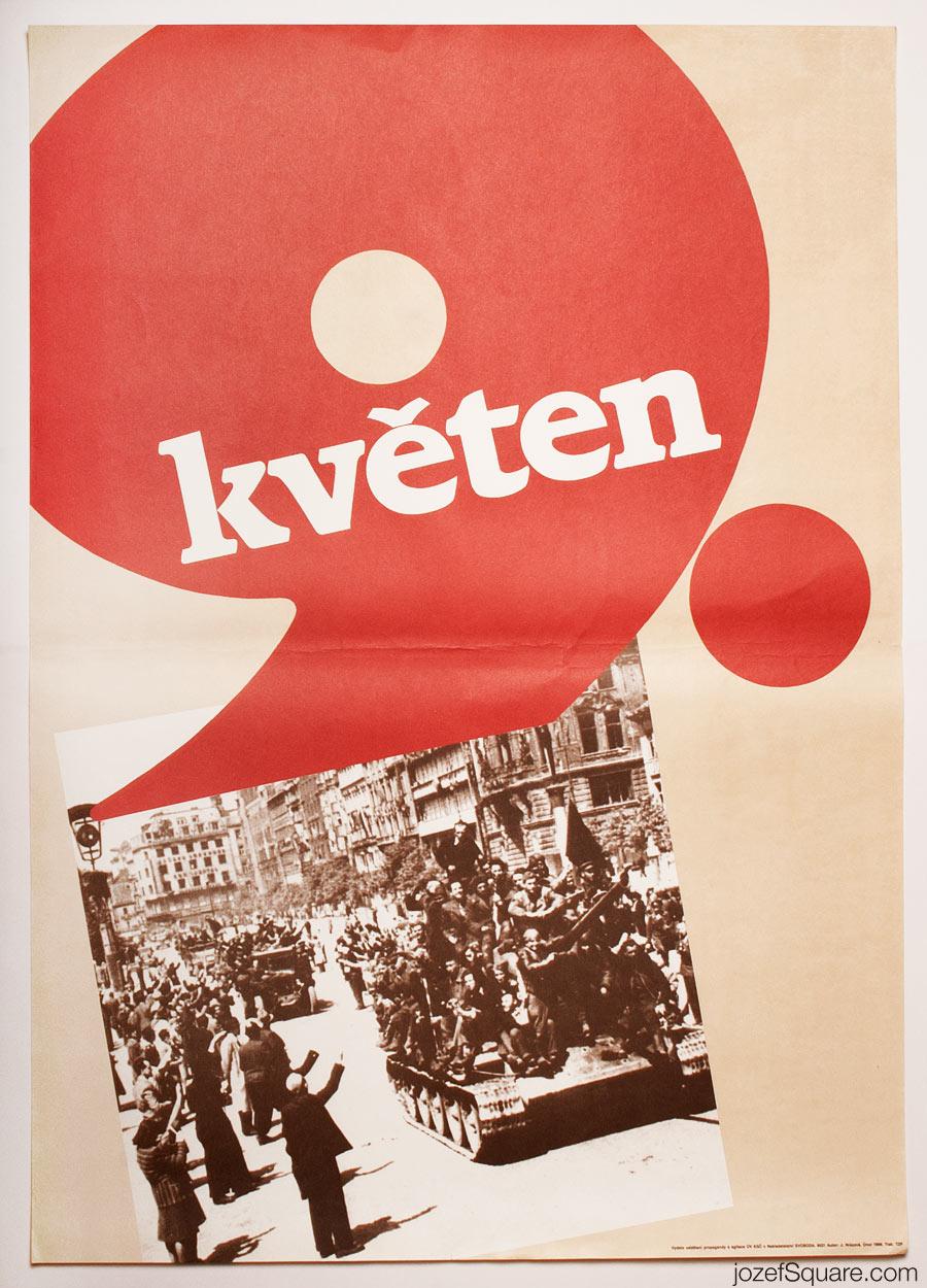 Propaganda Poster, Ninth of May, 80s Czechoslovakia