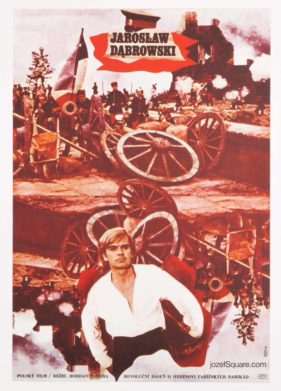 Jaroslaw Dabrowski Movie POster, Karel Vaca, 70s Cinema Art