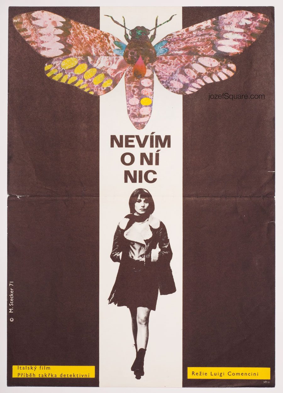 Movie Poster, Unknown Woman, 70s Italian Cinema