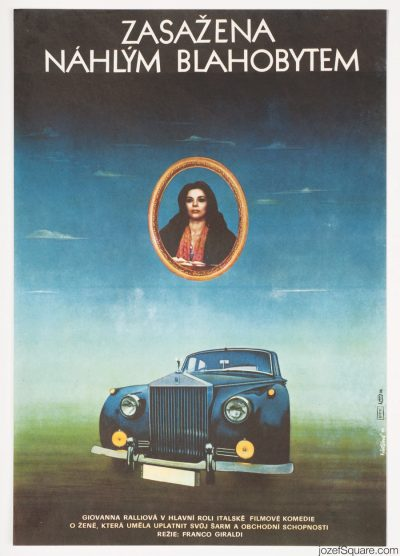 Movie Poster, Affected by Sudden Affluence, 70s Italian Cinema