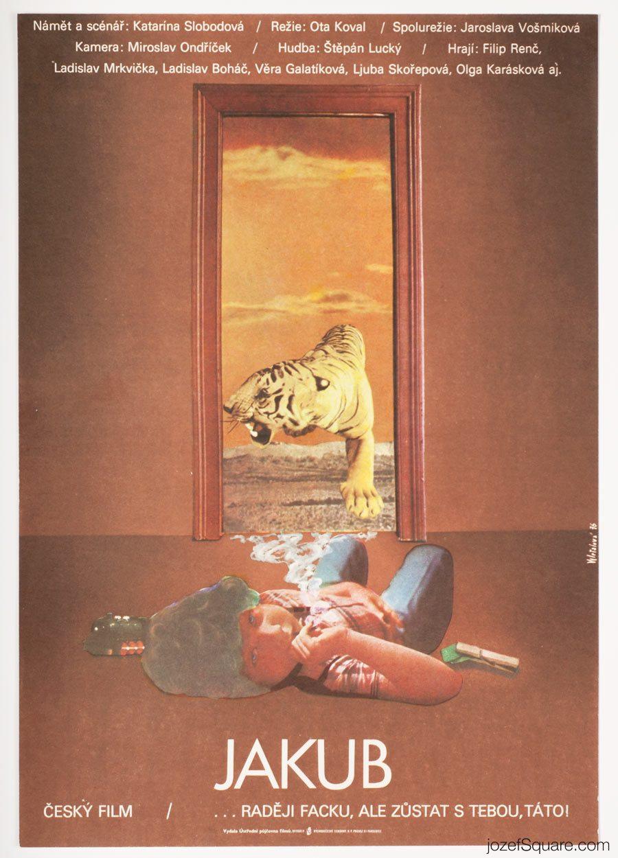 Moie Poster, Jakub, Olga Polackova Vyletalova, 70s Artwork