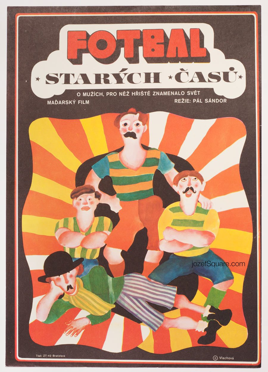 Movie Poster, Football of the Good Old Days, 70s Cinema Art