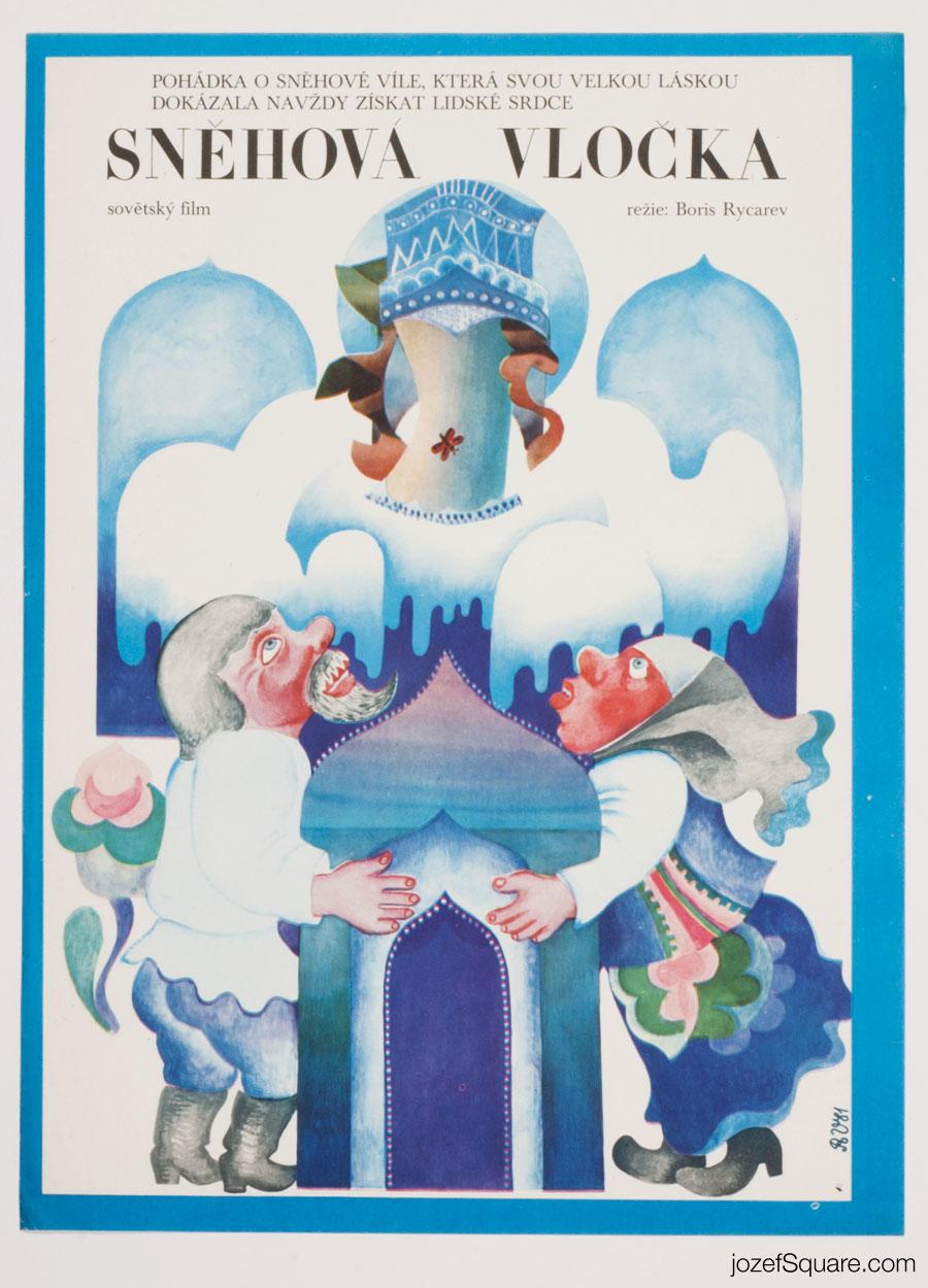 Kids Movie Poster, Granddaughter of Ice, 80s Cinema Art