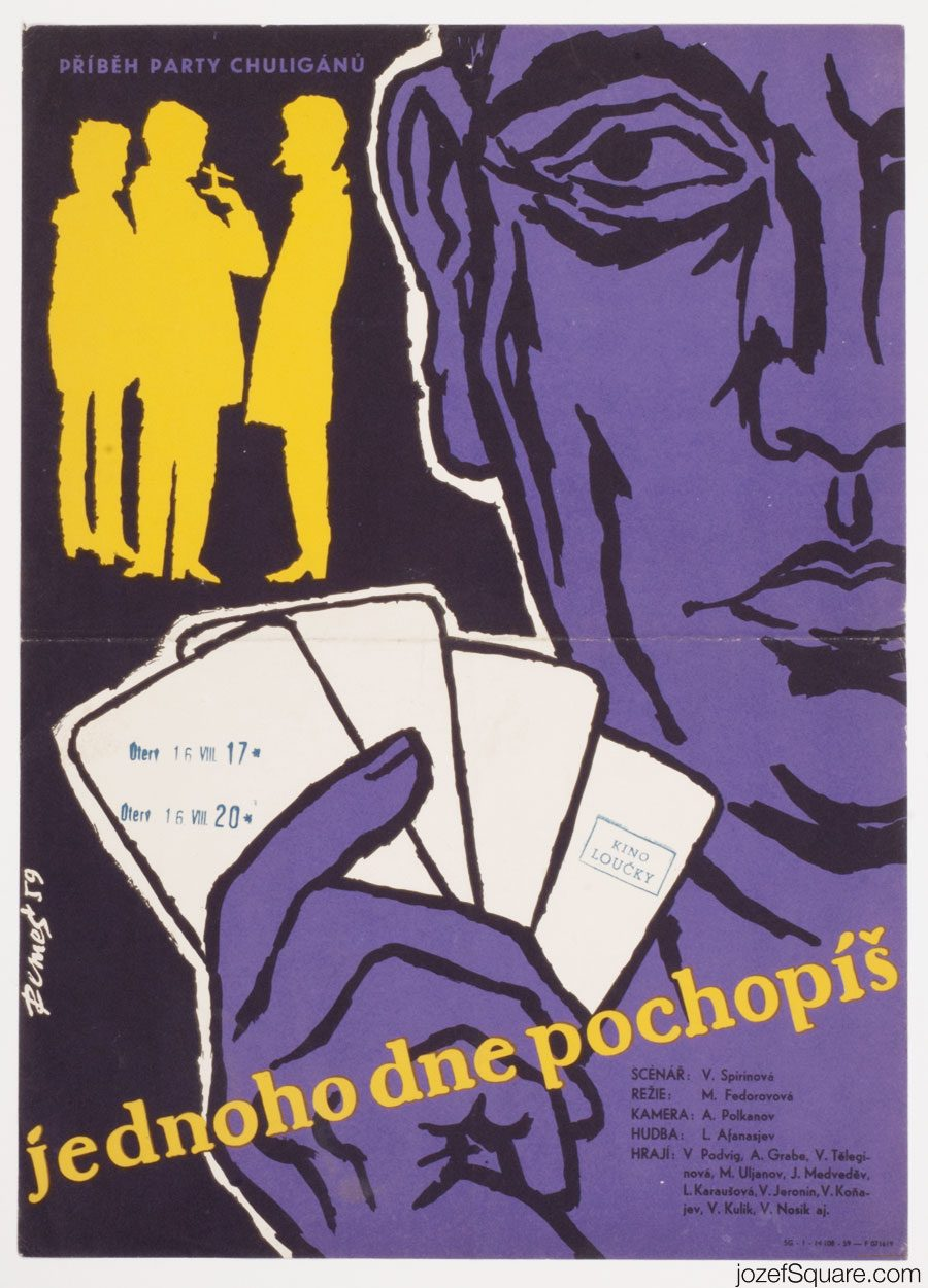 Movie Poster, Knock on any Door, 50s Cinema Art