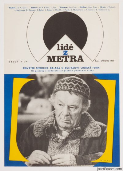 Film Poster, People from the Subway, Jaromil Jires