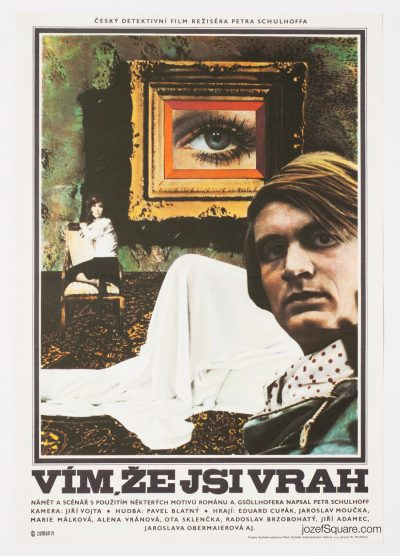 Movie Poster, I Know You Are a Killer, 70s Surreal Collage Art