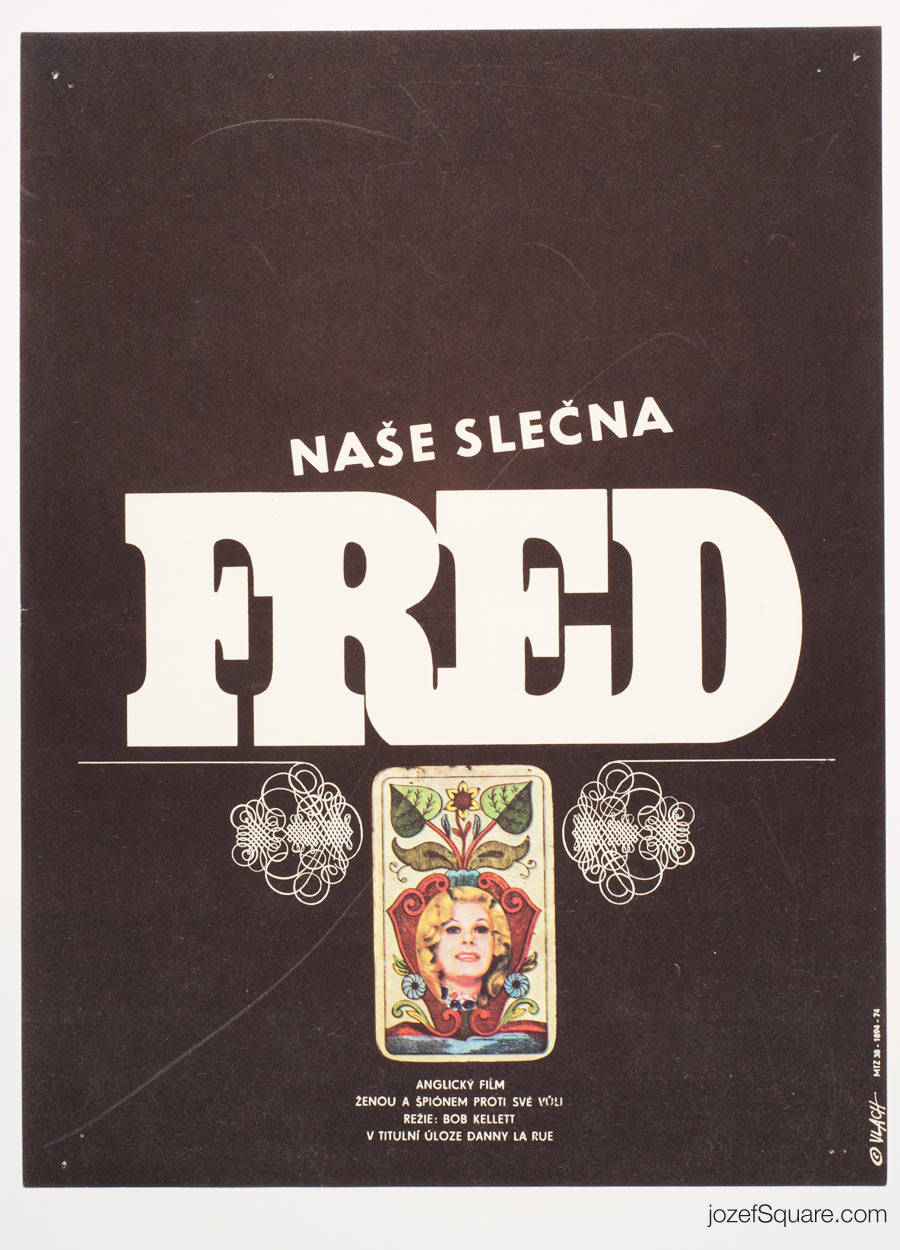 Movie Poster, Our Miss Fred, 70s Cinema Art