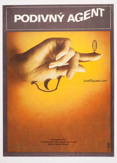 Minimalist Movie Poster, The Strange Agent, Zdenek Vlach