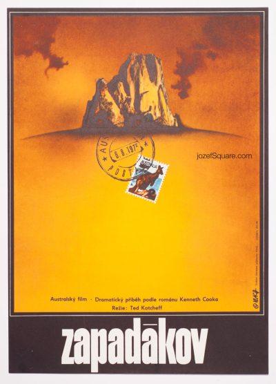 Wake in Fright Movie Poster, Zdenek Vlach 70s Artwork