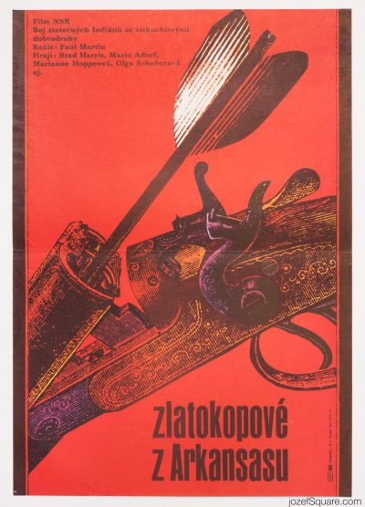 Conquerors of Arkansas Movie Poster, Zdenek Ziegler