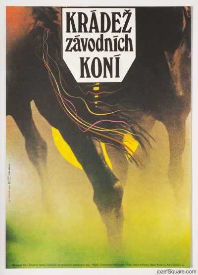 Movie Poster, Zdenek Ziegler, 70s Cinema Art