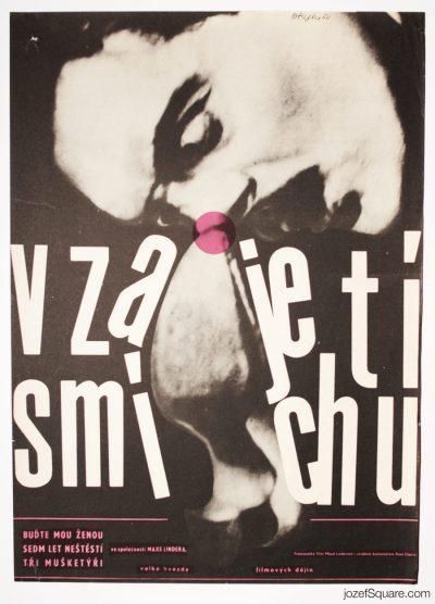 Laughing with Max Linder Movie Poster, Zdenek Ziegler