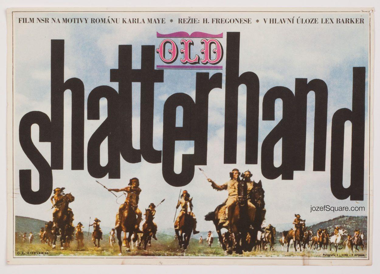 Old Shatterhand Movie Poster, 60s Western Cinema Art