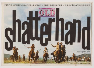 Old Shatterhand Movie Poster, 60s Western Cinema Art