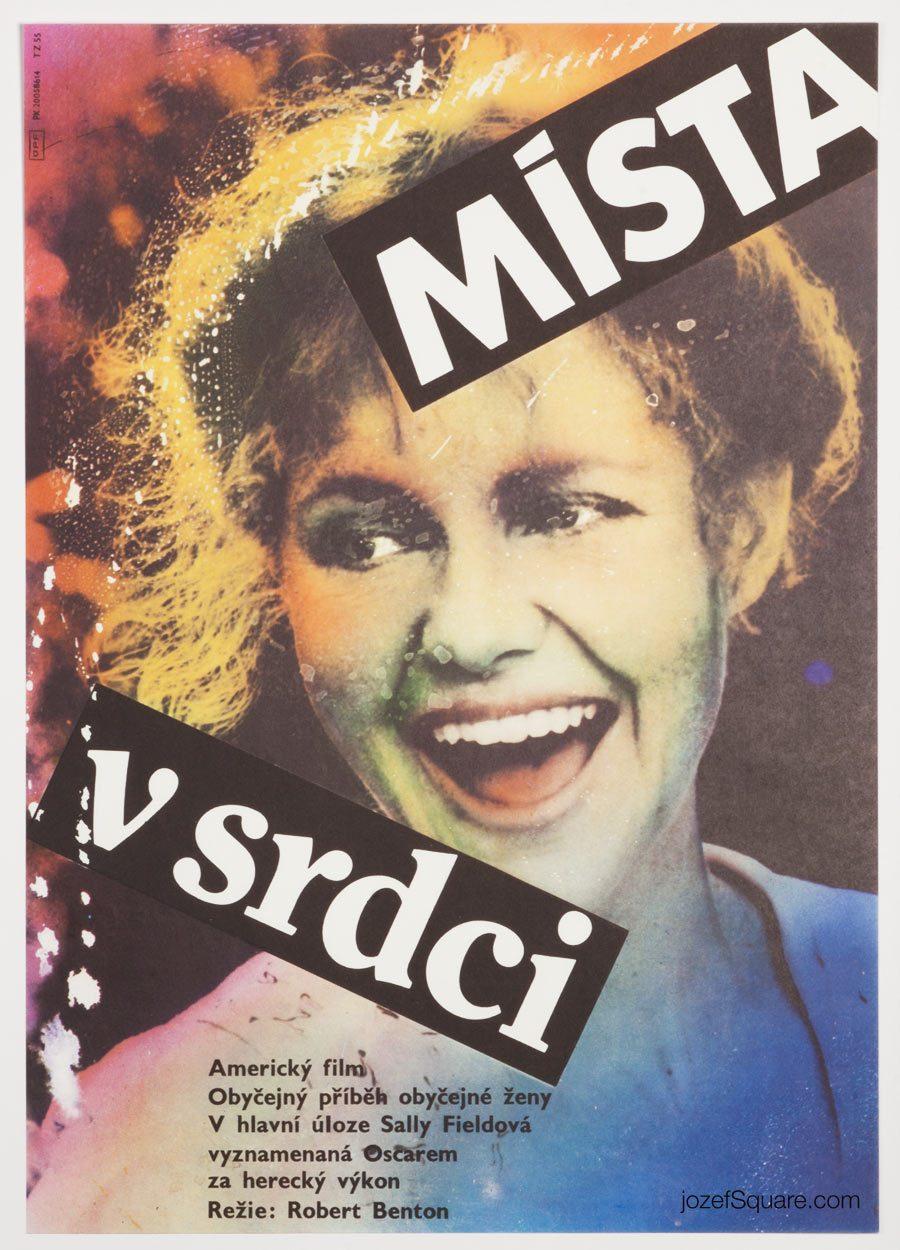 Places in the Heart Movie Poster, 80s Cinema Art, Zdenek Ziegler