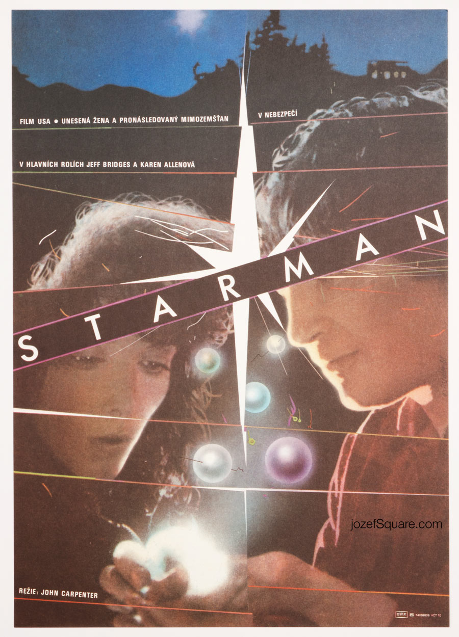 Starman Movie Poster, Zdenek Ziegler, 80s Artwork
