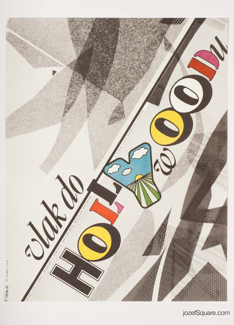 Train for Hollywood Movie Poster, Zdenek Ziegler