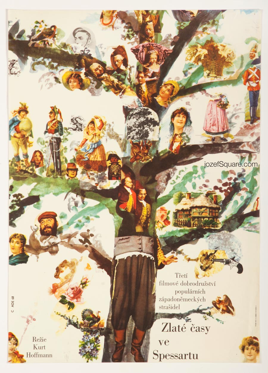 Movie Poster, Glorious Times in the Spessart, 60s Collage Art