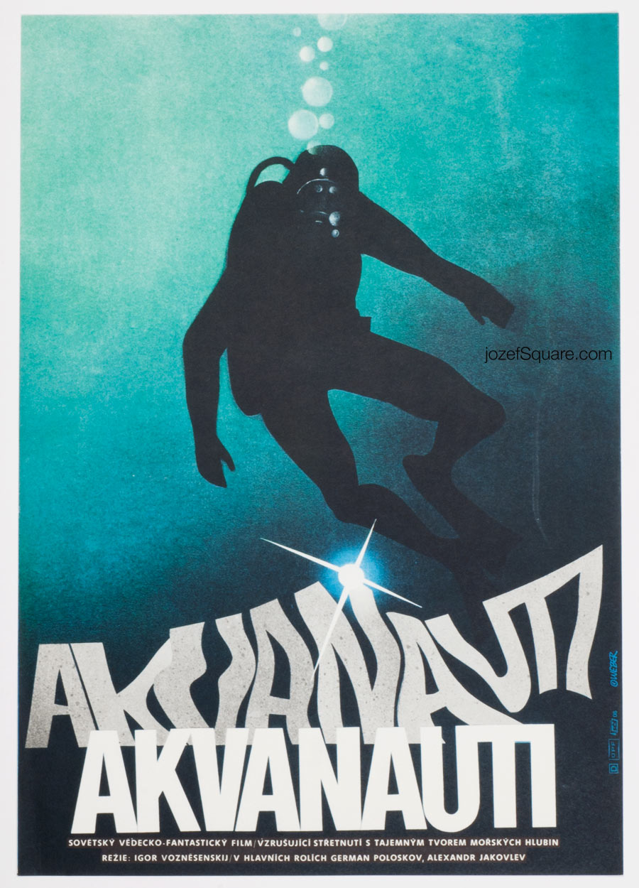 Movie Poster, The Aquanauts, 70s Cinema Art
