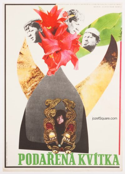 Movie Poster, Gentlemen of Fortune, 70s Collage Art