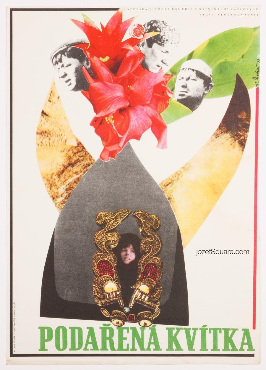 Movie Poster, Gentlemen of Fortune, 70s Collage Art