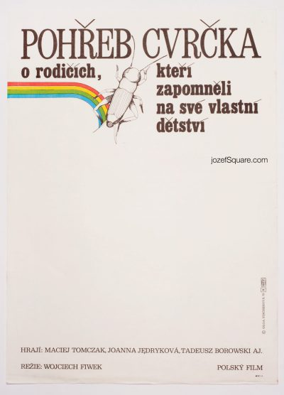 Movie Poster, Funeral of a Cicade, 70s Polish Cinema