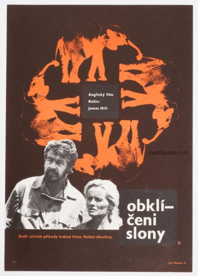 Movie Poster, An Elephant Called Slowly, 70s Cinema Art