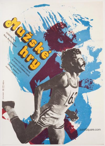 Movie Poster, Men's Games, 70s Cinema Art