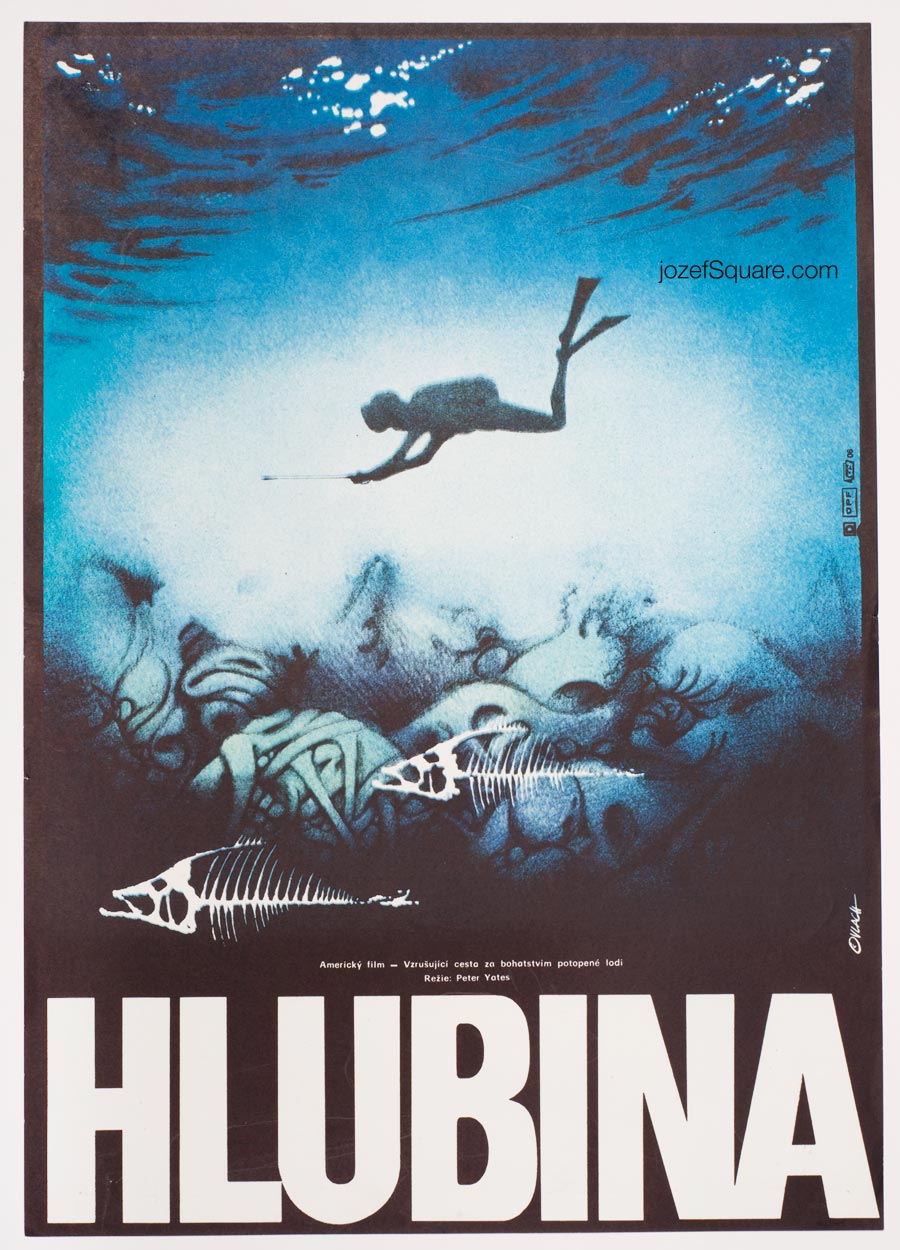 Movie Poster, The Deep, 70s Cinema Art
