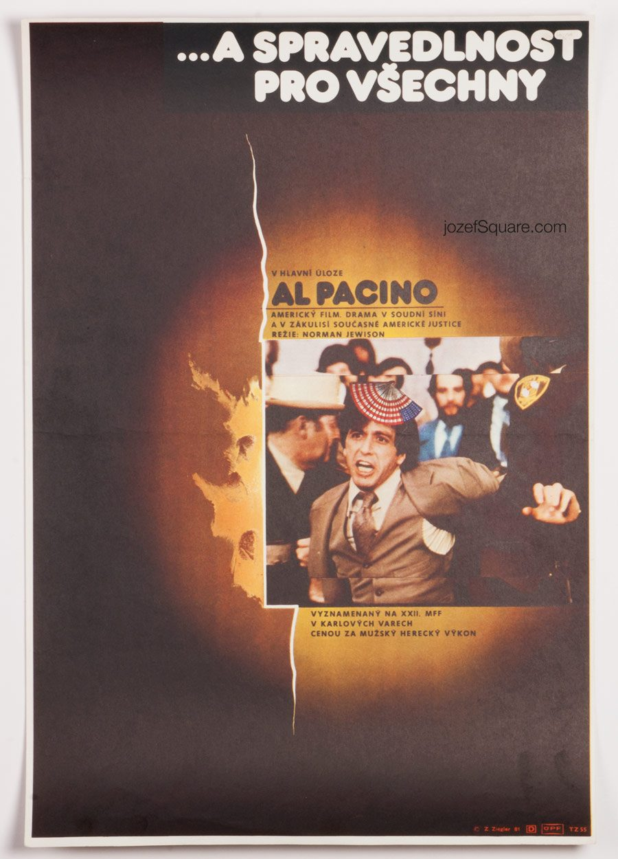 Movie Poster, And Justice For All, Al Pacino, 70s Cinema