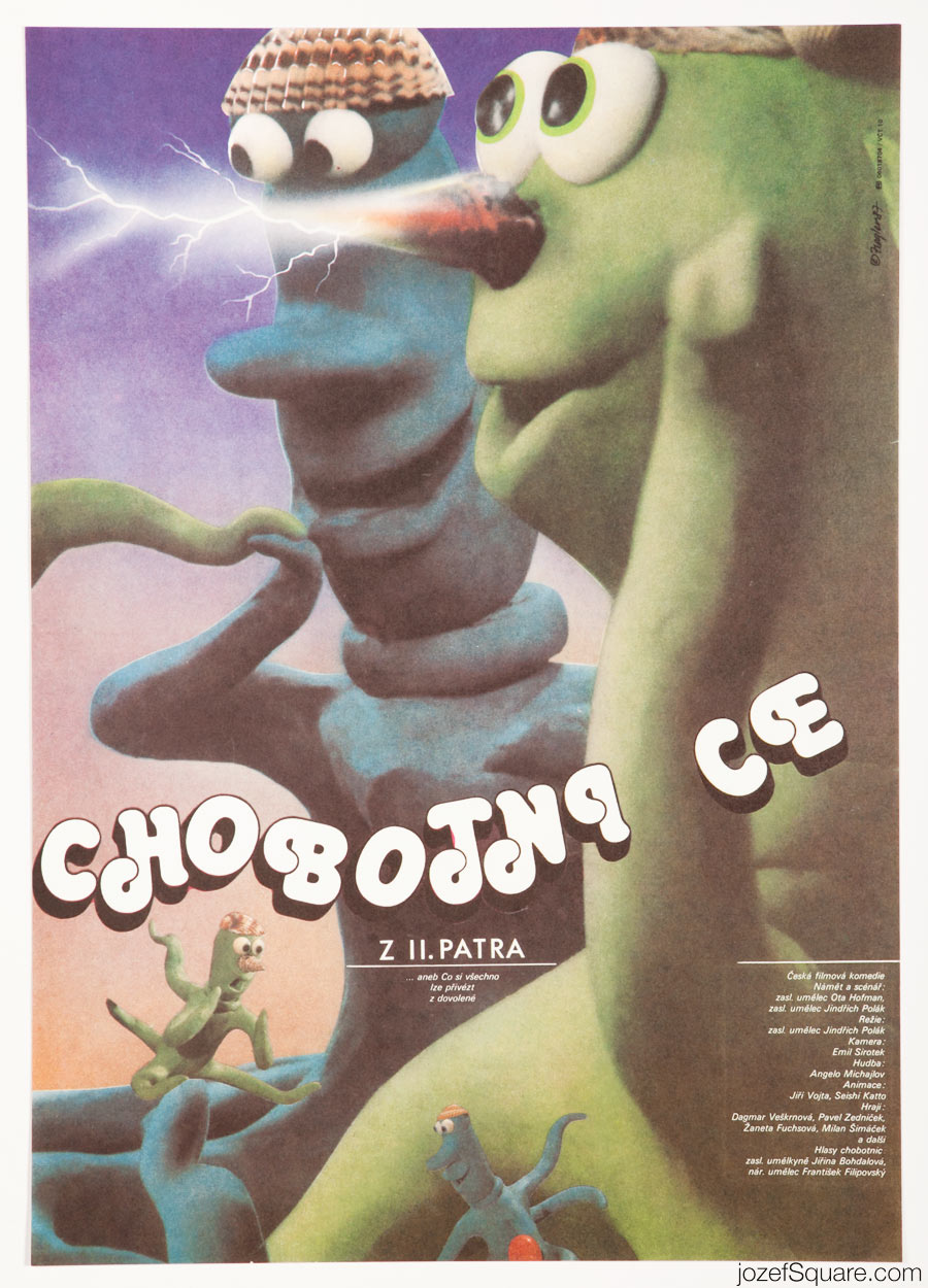 Cinema Poster, The Octopuses from the Second Floor, 80s Kids Poster Art