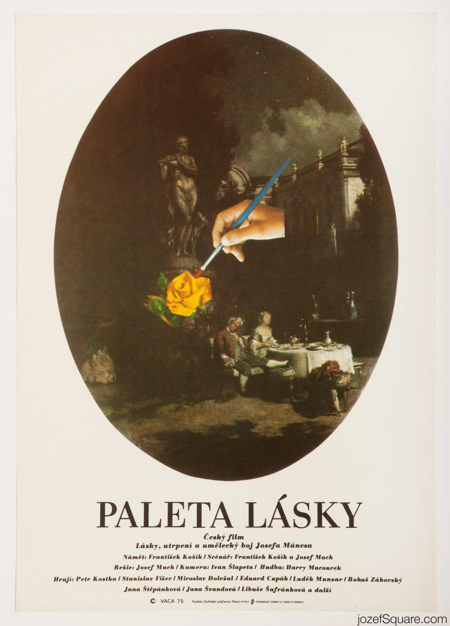 Movie Poster, Palette of Love, 70s Cinema Art