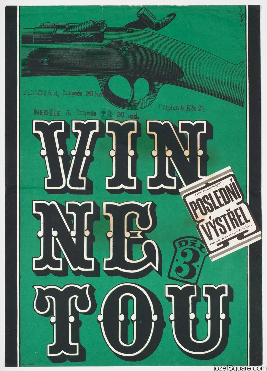 Movie Poster, Winnetou, Last Shot, 60s Western Poster