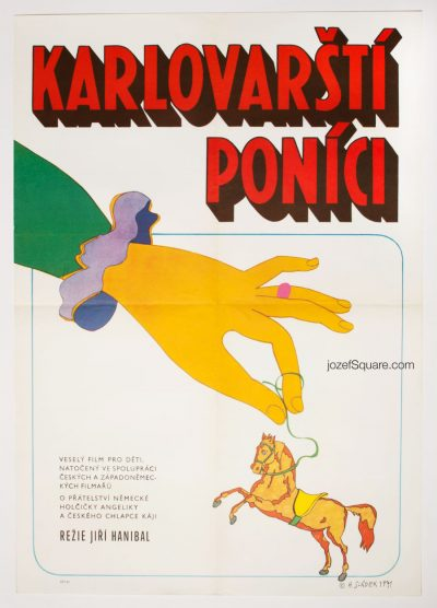 Kids Movie Poster, The Ponies of Karlovy Vary, Antonin Sladek