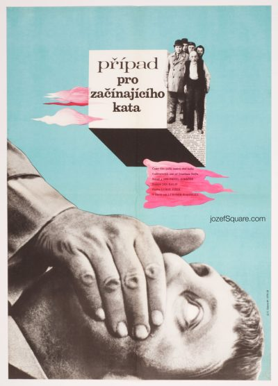 Movie Poster, Case for a Rookie Hangman, Czechoslovak New Wave Cinema