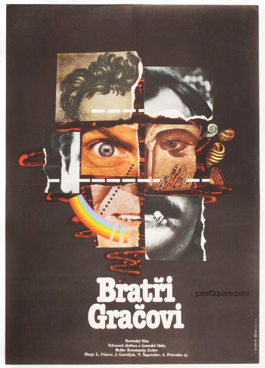 Collage Movie Poster, Grachi, 80s Soviet Cinema