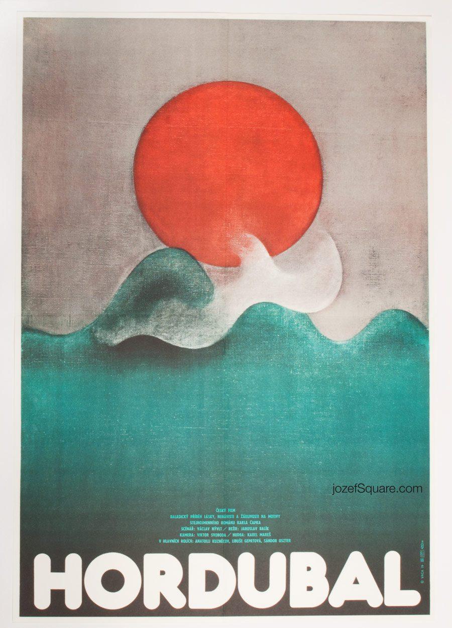 Movie Poster, Hordubal, 70s Abstract Cinema Art