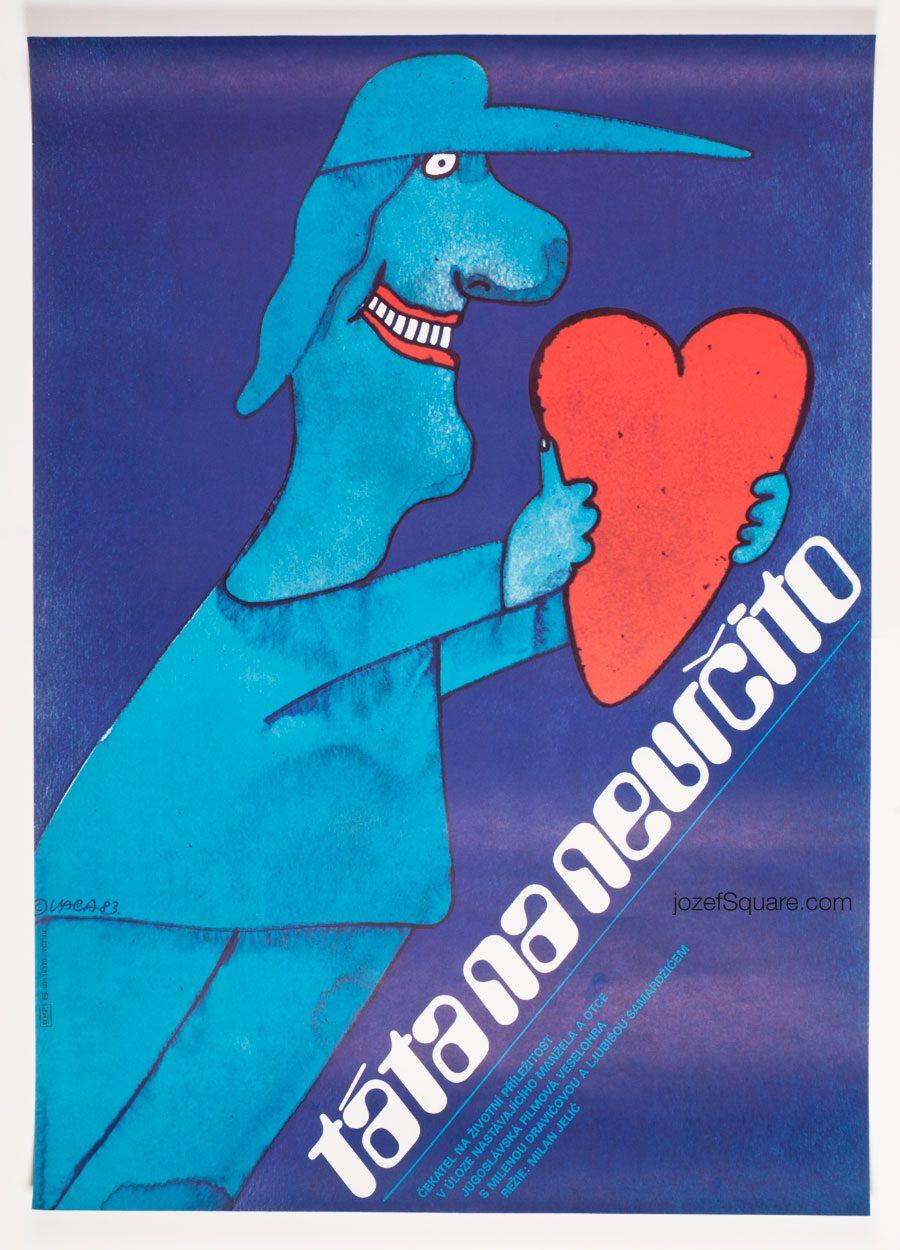 Movie Poster, My Part-Time Dad, 80s Cinema Art
