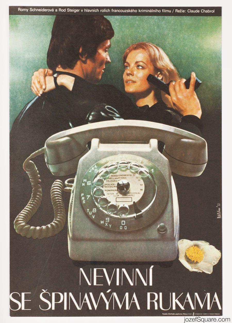 Movie Poster, Dirty Hands, Claude Chabrol, Romy Schneider