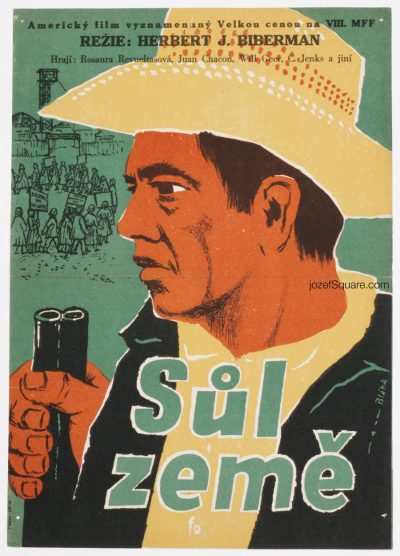 Movie Poster Salt of the Earth, 50s Cinema Art