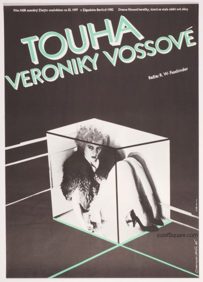 Movie Poster, Veronika Voss, 80s Cinema Art