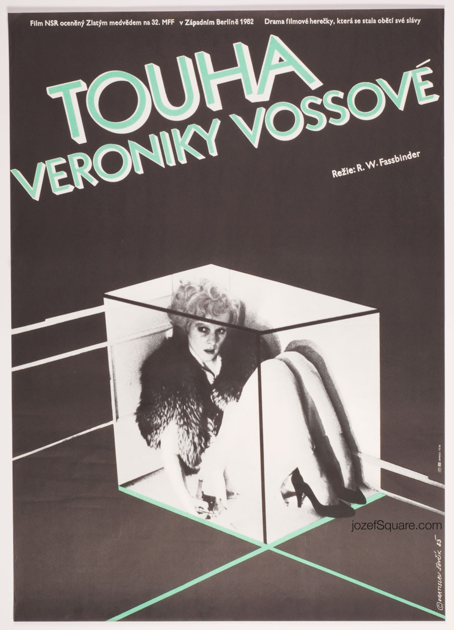 Movie Poster, Veronika Voss, 80s Cinema Art