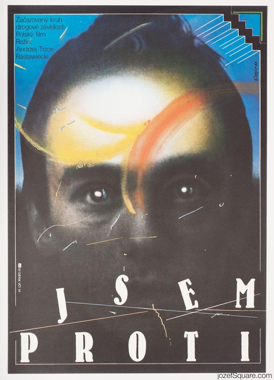 Movie Poster, I Am Against, 80s Polish Cinema