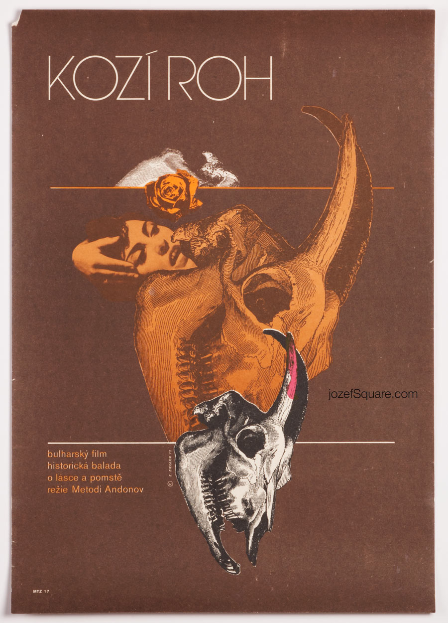 Movie Poster, The Goat Horn, 70s Cinema Art
