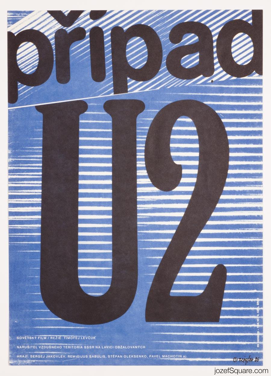Minimalist Movie Poster, We Accuse, 80s Zdenek Ziegler