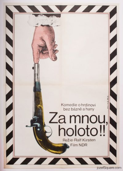 Movie Poster, Follow Me, Blackguards, 70s Cinema Art