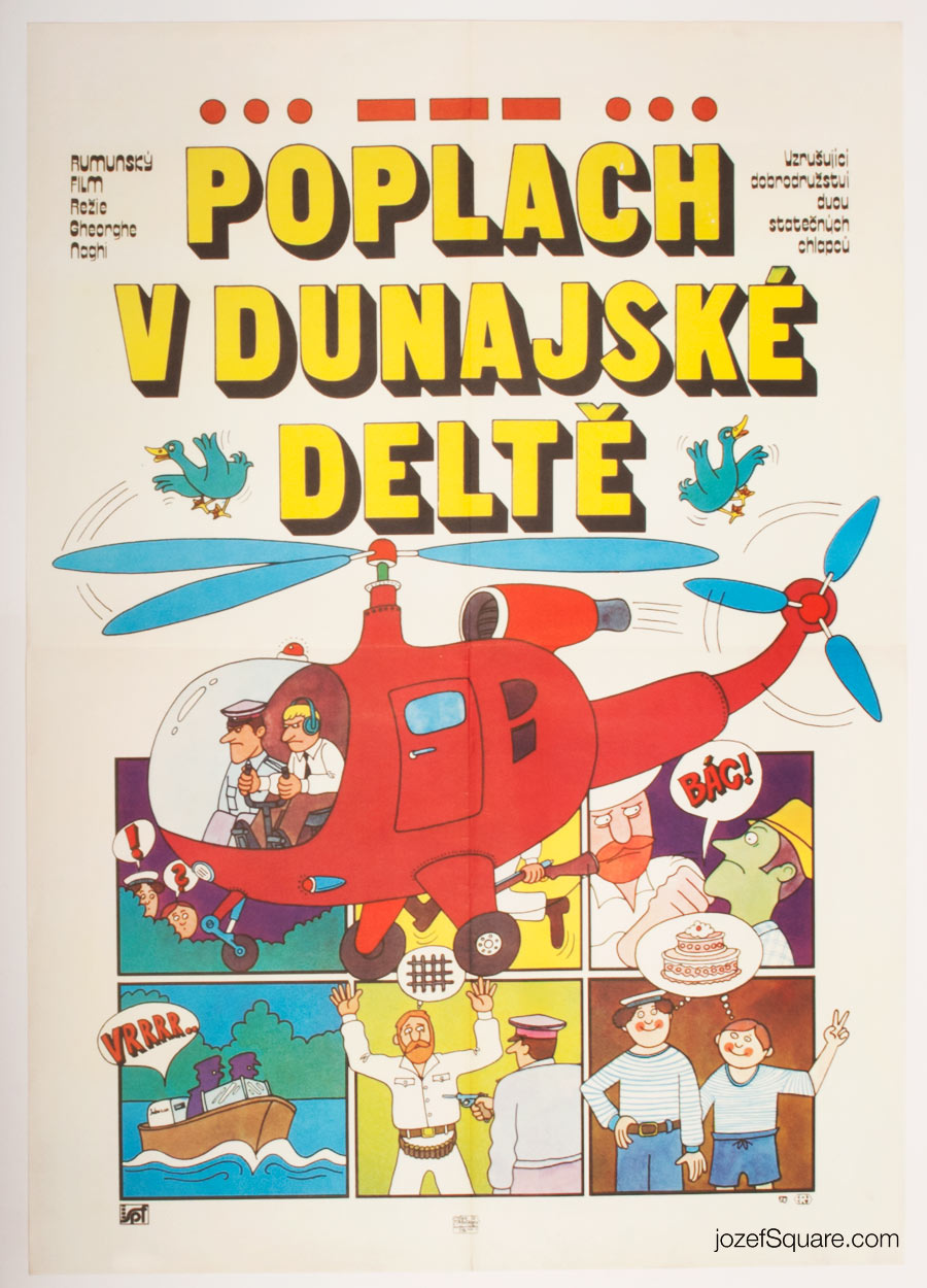 Movie Poster, Alarm in the Delta, Illustrated Cinema Art
